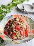 夏野菜とサバ缶のマヨぽんサラダ