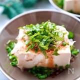 レンジで♪【ポン酢生姜の湯豆腐】