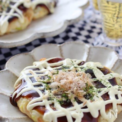 長ネギいっぱいの豆腐お好み焼き