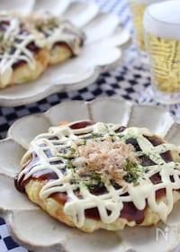 『長ネギいっぱいの豆腐お好み焼き』