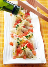 『オリーブ&チーズの地中海風冷やし水餃子』