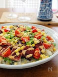 カツオのサラダちらしマヨポンソース
