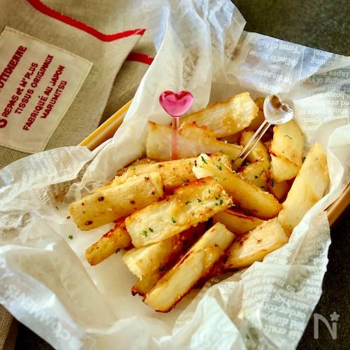 揚げない♪長芋の焼きポテトフライ