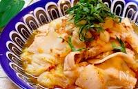 【レンチン和風レシピ!!】豚バラと白菜のおかかポン酢和え