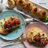 簡単‼︎美味しい🤤 ナスとトマト、ベーコンのブルスケッタ