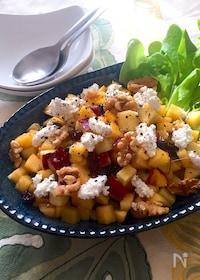 『スプーンでモリモリ食べられる♡柿とさつまいものサラダ』