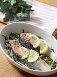 超簡単なのに何故美味しい♡レンチン塩秋鮭ともやしのレモン蒸し