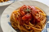 フレッシュトマトと自家製トマトソースのパスタ