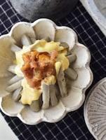 ほくっシャキ♪やみつきの食感!ごぼうの梅煮サラダ。