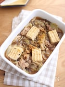 給食の味。豚肉ですき焼き風煮