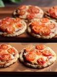 トマトたっぷり♪サクッとオートミールピザ