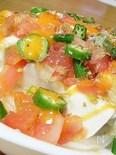新玉ねぎスライスとお豆腐のしゃきとろサラダ