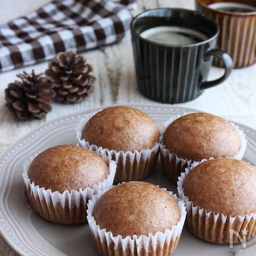 フライパンで作れる!チョコ入りココア蒸しパン