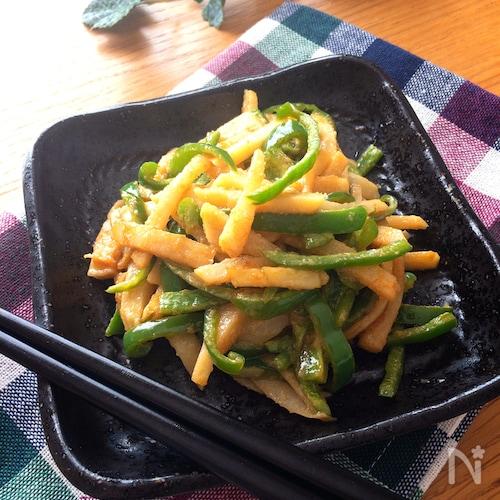 無限に食べられる♡筍とピーマンのオイマヨ炒め