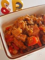 レンズ豆とベーコンのパプリカ煮込み