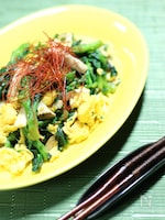 菜の花と卵のエスニック炒め