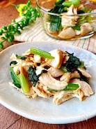 簡単・小鉢  鶏ささみと小松菜の生姜・酢しょうゆあえ