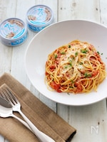 サバフレとトマトのスパゲティマリナーラ