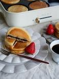 新食感!チョコサンドのマフィンパンケーキ