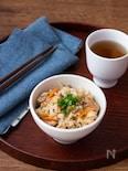 【炊飯器で簡単】さばの味噌煮缶で旨味たっぷり!炊き込みごはん