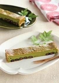 『黒豆の抹茶チーズケーキ』