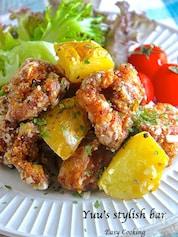 冷めても美味しい♪むね肉de『チキンとポテトのネギ塩レモン』
