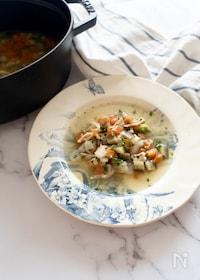 『手羽端と冷蔵庫の野菜で作る優しい味のチキンスープ』