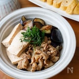 『なすがとろっ!なす肉豆腐』#簡単#和食#ご飯が進む