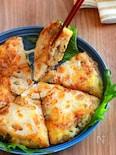 【蓮根と大葉チーズライスピザ】もちっと香ばし!カリッとチーズ
