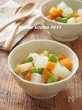 出汁不要!野菜嫌いっ子にも。さいころ根菜の白煮