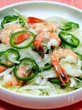 海老と新玉ねぎのサラダ