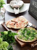 パリッパリの極薄ピザ!2種の「タルトフランベ」