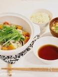 定食屋さん風♡豚と野菜の蒸し鍋