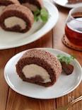 マロンロールケーキ
