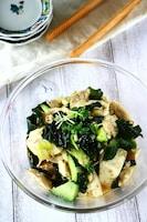 蒸し鶏と豆腐のオイスター和え《レンジ5分で簡単蒸し鶏♪》