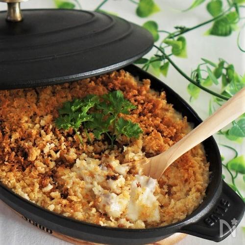 里芋と鶏肉の簡単スコップコロッケ