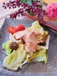 ポン酢にんにくでさっぱり!鶏むね肉の野菜蒸し