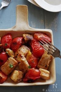 めかじきとトマトのニンニク風味