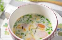 2分で完成♬オーツミルクのお手軽スープ!栄養と旨味たっぷり☆