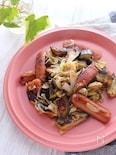 長ネギと茄子のマヨポン炒め