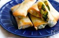 夏野菜たっぷり肉味噌焼き春巻き