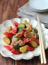 ズッキーニと鶏の生姜炒め。