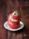 トマトとツナの重ねサラダ。