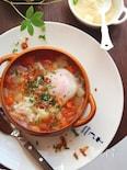 残り野菜と落とし卵のスープ。