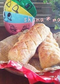 『トースターと食パンで♪スティックメロンパン♪』
