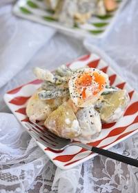 『アスパラと卵のクイックポテトサラダ』