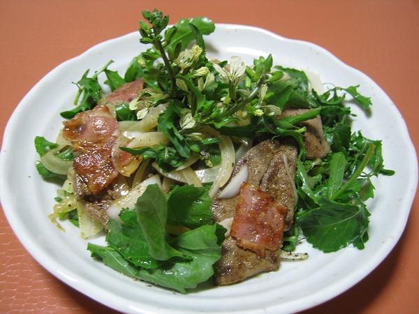 豚レバーのホットサラダ