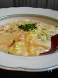 白菜とベーコンの豆乳煮