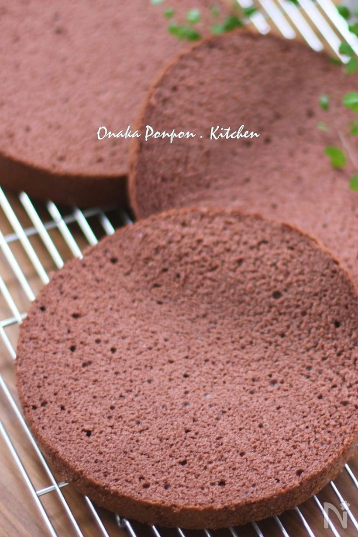 基本のチョコスポンジケーキ