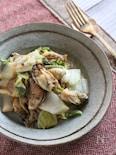 牡蠣と白菜のとろとろ白ワイン煮込み